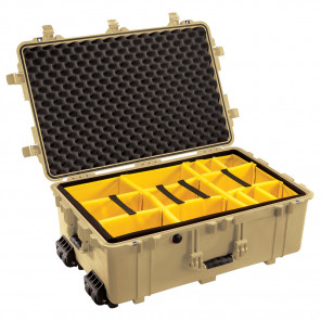 Pelican™ 1650 Case-Dividers and Lid Foam-Desert Tan