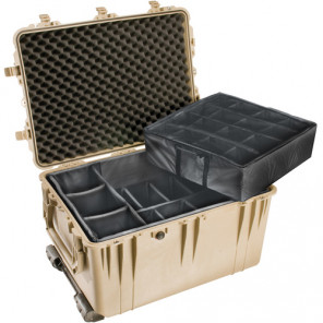 Pelican™ 1660 Case-Dividers and Lid Foam-Desert Tan