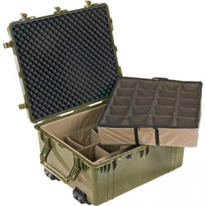 Pelican™ 1690 Transport Case-Dividers and Lid Foam-Olive Drab Green