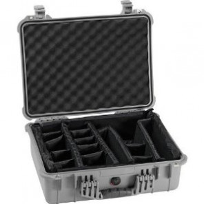 Pelican™ 1600 Case-Dividers and Lid Foam-Silver