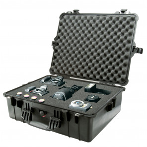 Pelican 1600B Case Foam Black, Pelican Large Case, JP Cases