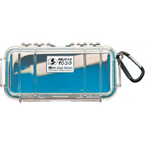 Pelican™ 1030 Micro Case-Clear with Blue