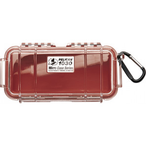Pelican™ 1030 Micro Case-Clear with Red