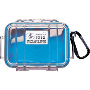 Pelican™ 1010 Micro Case-Clear with Blue
