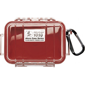 Pelican™ 1010 Micro Case-Clear with Red
