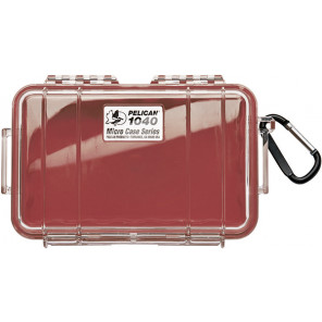 Pelican™ 1040 Micro Case-Clear with Red
