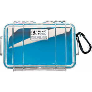 Pelican™ 1050 Micro Case-Clear with Blue