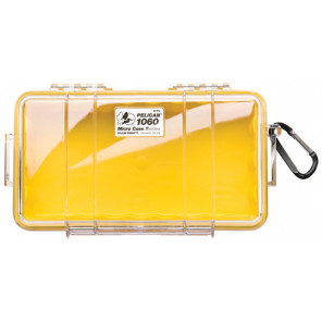 Pelican™ 1060 Micro Case-Clear with Yellow