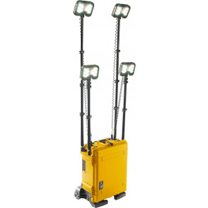Pelican™ 9470MY 4-head Remote Area Lighting System Gen 3 Mobility Yellow